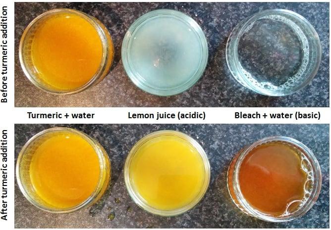 Using turmeric as an indicator